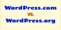 WordPress.com vs. WordPress.org